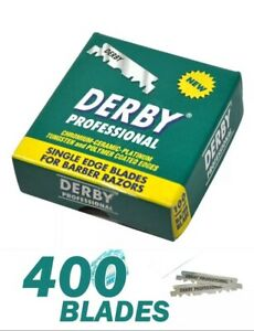 derby professional single edge half razor blades 400 count 4 packs x 100 barber ebay ebay