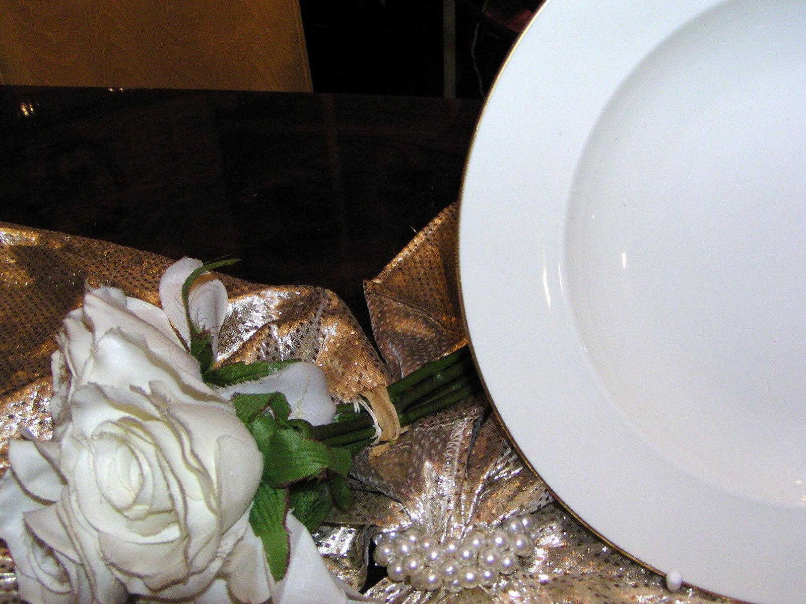 Edle große Platte Servierplatte Rosanthal CGoldna Ivory elfenbein elfenbein elfenbein Goldrand top      Für Ihre Wahl  3195a4