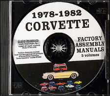 Corvette Factory Assembly Manual on CD 1978 1979 1980 1981 1982 Chevy Chevrolet