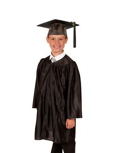 Detalles De Infantil Primario Colegio Toga Y Birrete De Graduacion Brillante