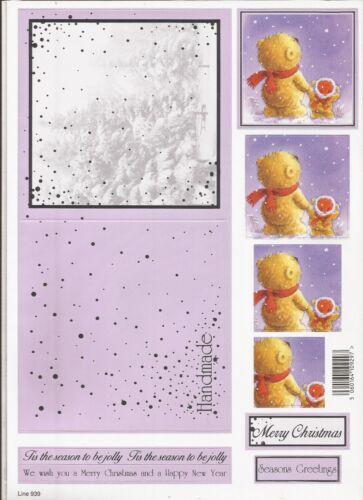 A4 Die Cut 3D Christmas Decoupage Sheet 051-939
