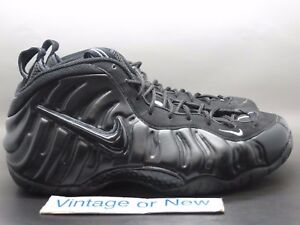 VTG Nike Air Foamposite Pro Black Medium Grey 2002 sz 12