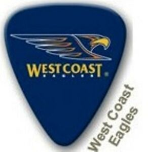 West-Coast-Eagles-Guitar-Picks-5-Pack-Official-AFL-Product-NEW-FREE-POSTAGE