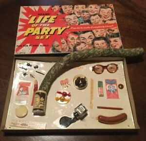 SS-ADAMS-Life-of-The-Party-Deluxe-Gag-Set-Super-Rare-MIB-Sign-Collection-OOP