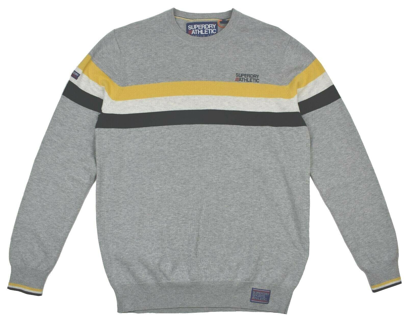 Superdry Athletic Tour Crew Herren Pullover Grau Baumwolle M 48 48 48 L 50 XL 52 | Exquisite Verarbeitung  5fc921