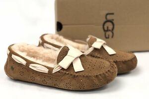 0a2b571f30a Details about Ugg Australia Dakota Sunshine Perf Chestnut Slippers Shoes  1019199 Sheepskin
