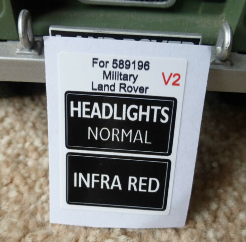 Land Rover Series Military IR Lightweight Infrared Headlight Switch Decal Bold