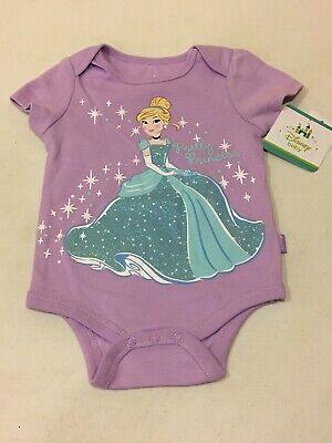 Disney Baby Girls Cinderella Pretty Princess Romper One piece Snap NWT Cute