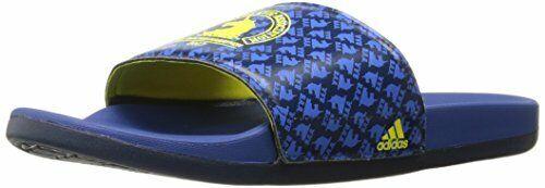 Adidas Adilette Cf + Boston Glissière Sandale,bleu/jaune/collégial Bleu,17 M Us