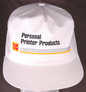 Vtg-KODAK-Personal-Printer-Products-Trucker-Hat-Snapback-Mesh-White-Photo-Film