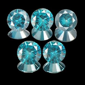 100/% Natural Blue Brilliant Round Shape 0.09CT Loose Diamond With Certificate