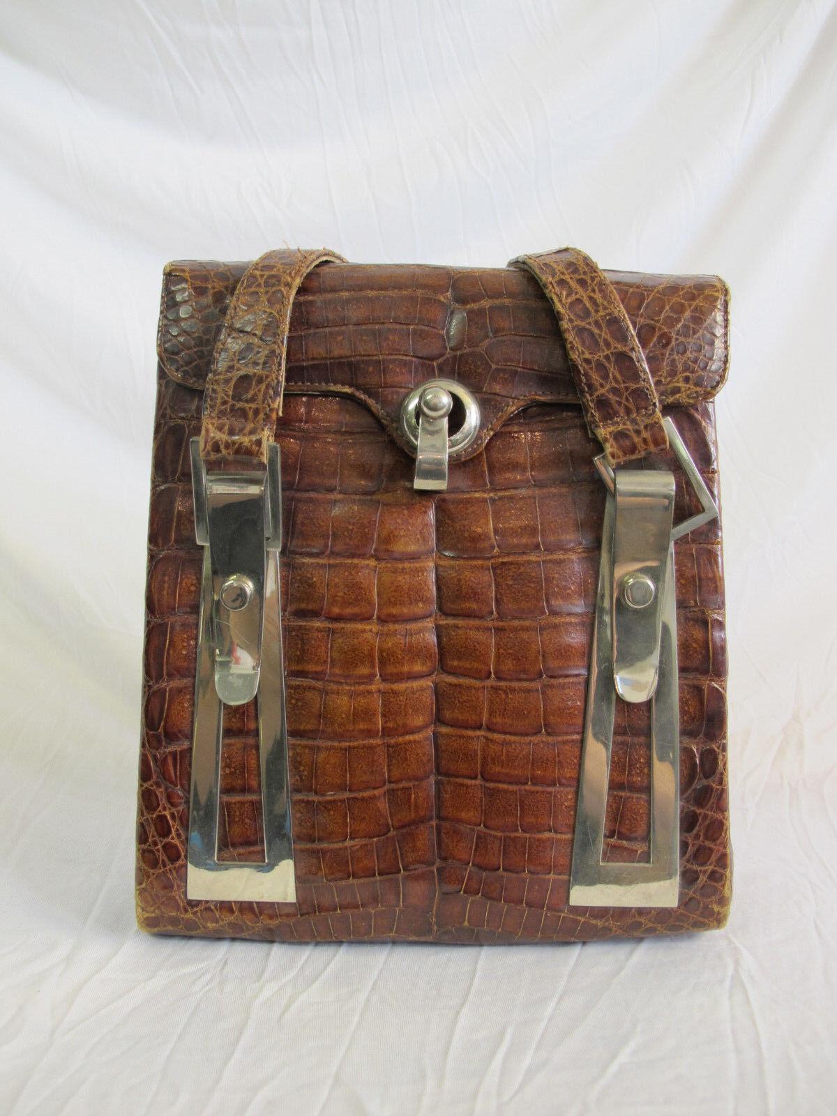 Vintage Kroko Optik Tasche Henkeltasche Damen Handtasche Schlange | Vollständige Spezifikation
