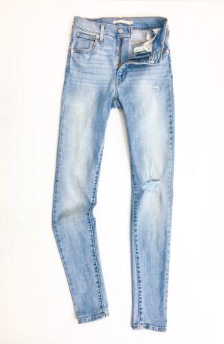 femmes Levis® Jean Mile skinny pour Soft super clair Vintage Distressed Bleu High aqaIUt