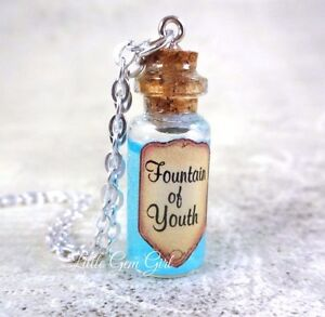 Glass Bottle Pendants Fountain of youth magic mini glass bottle necklace charm real moving image is loading fountain of youth magic mini glass bottle necklace audiocablefo