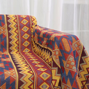 Details About Nordic Aztec Geometric Rugs Throws Blanket Ethnic Tribal Sofa Art Throw New