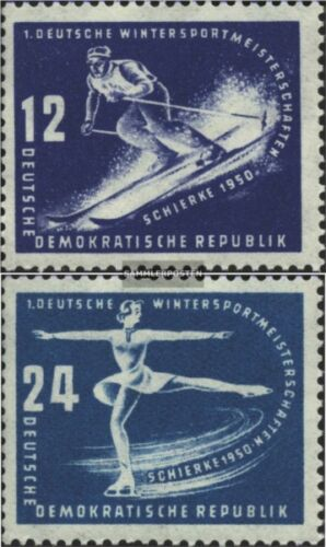 DDR 246247 with hinge 1950 first Winter Sports Championships de