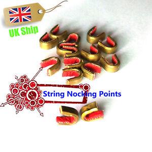 1//5pcs archery bow string protective buckle clip nock set brass nocking poiU VX