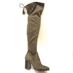 9ce53bfb142 New Marc Fisher LTD Womens Gray Anata Knee High Festival Boots US 7 ...