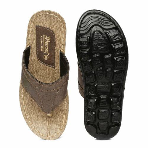 PARAGON Vertex Men/'s Mustard Brown Flip-Flops Foot Sandal Formal Flat Heel