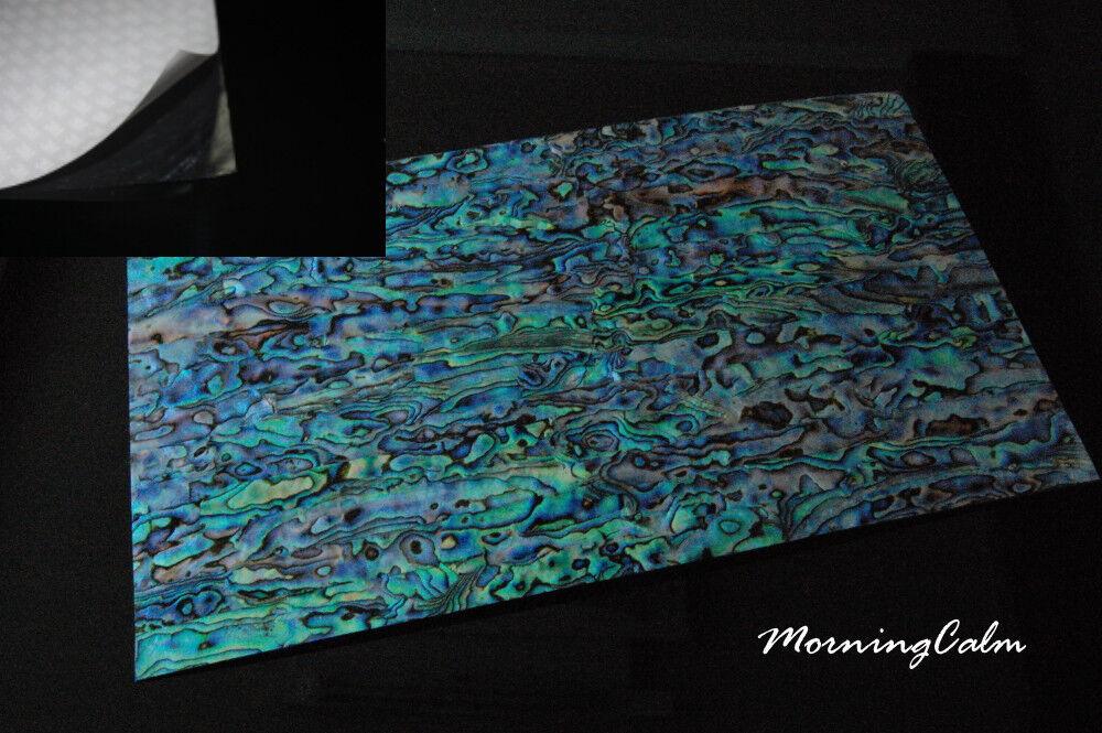 2 Sheets of Blau Paua Coated Enhanced Adhesive Veneer (MOP Shell Craft)
