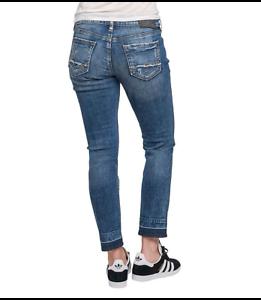 d'argento del etichette destrutturati Nuovo donne le con delle Jeans ragazzo Signore qC15nBZB