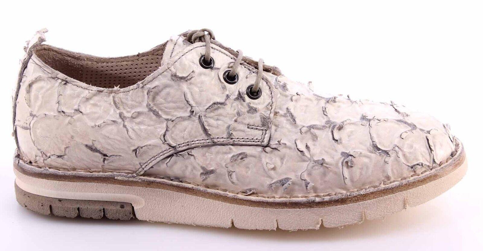 zapatos mujer MOMA 30501-ZB Ananas Pelle Pelle Pelle Bianco Vintage Estremo Esclusivo Made IT fe1fa9