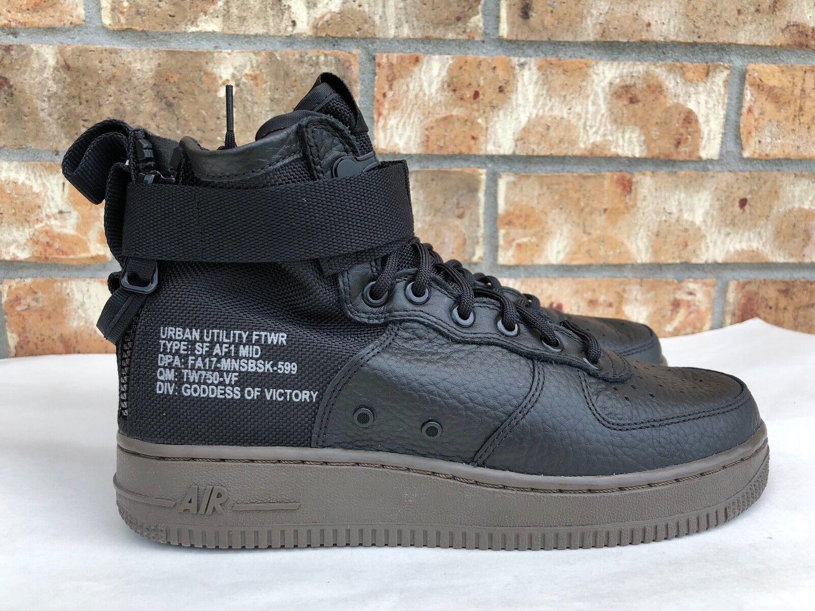 Hombre Nike Force 1 Mid SF especial Air campo Negro AF1 Qs Negro campo Dark Hazel 917753002 40de2c