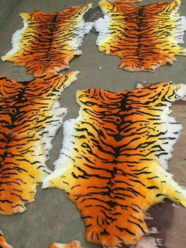 Sheepskin Fur Australia Tiger Skin Carpet Rug Soft Fluffy Plain Mat Chair Sofa