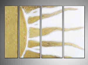 Quadro sole oro testata letto astratto quadro moderno abstract