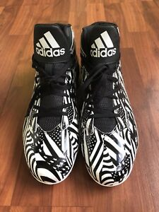 ADIDAS-Mens-Football-Soccer-Cleats-Black-amp-White-Size-US12-CLU-600001