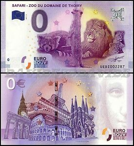 UEDZ-2-BANCONOTA-TURISTICA-0-EURO-FRANCIA-2017-SAFARI-ZOO-DE-THOIRY