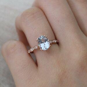 2Ct-Oval-Cut-Aquamarine-Diamond-Solitaire-Engagement-Ring-14K-Rose-Gold-Finish