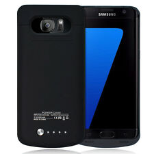 Backup External Battery Charger Case For Samsung GALAXY S7 Edge G9350 Black