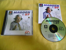 PS1 GAME-MADDEN NFL '97-1997-SONY PLAYSTATION-PAL-PS2-PS3-MULTILINGUE