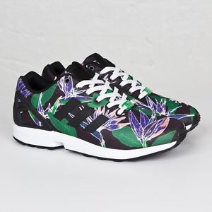 1a524670d Adidas ZX Flux B34518 Hawaii Floral Men Size US 5 NEW 100% Authentic ...