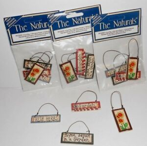 3-Packs-12-Miniature-Garden-Herbs-Dollhouse-Craft-Crafting-Painted-Sign-NEW