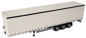 MARGE MODELS MODELS MODELS 1 32 SCALE 1902-01 PACTON CURTAINSIDE TRAILER WHITE 949cba