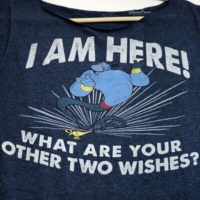 Blue Large Disney Aladdin Genie Vacation Mode Shirt Youth