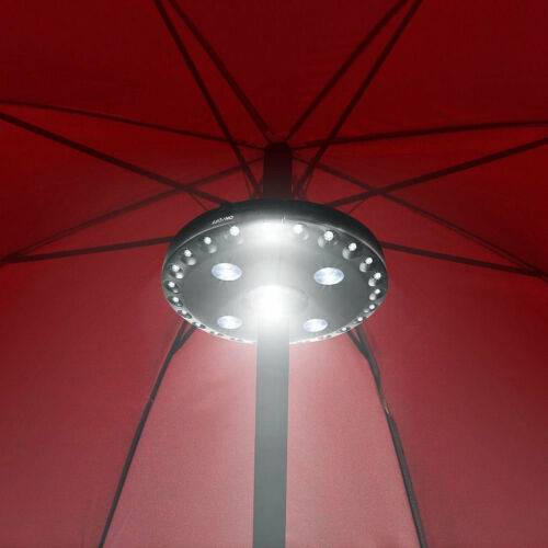 28LED 3Mode Cordless Patio Umbrella Pole Light Outdoor Camping Tent Lamp Black