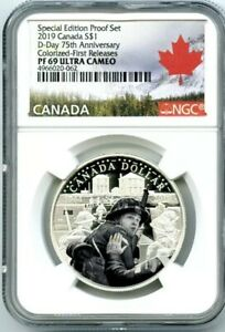 2019-1-CANADA-SILVER-DOLLAR-D-DAY-NGC-PF69-UCAM-COLORIZED-PROOF-FIRST-RELEASES