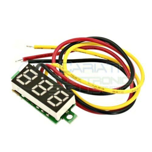 Display Lcd BLU Voltometro DC 0-100V  Tensione Tester
