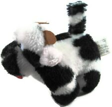 "Plush Soft Cow Black and White Toy 6"" Long Stuffed Animal Very Cute Used      94"