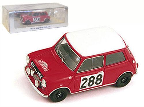 Spark S1187 Morris Mini Cooper   288 Monte  voiturelo 1963-R Aaltonen, échelle 1 43,  prix bas tous les jours