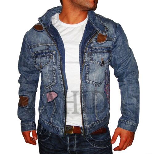 Herren Jacke Jeans-Jacke Blau Vintage Young Fashion Club WOW S M L XL XXL NEU