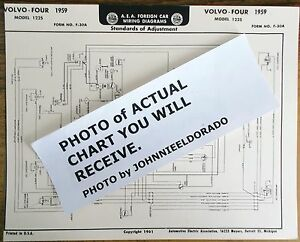 details about 1959 volvo four series 122s models aea wiring diagram chart Electrical Wiring Diagrams