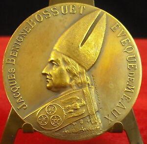 Medaille-Jacques-Benigne-Bossuet-Eveque-Meaux-par-l-039-Abbe-A-J-Corbierre-Medal