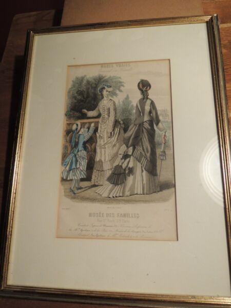 WohltäTig Musée Des Familles. Nach Rigolet Raubar Paris, Von 1875 Damenmode Paris 2 Stiche