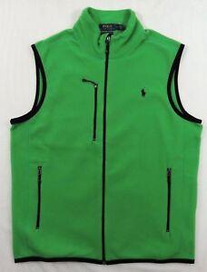 Polo-Ralph-Lauren-Pony-Performance-Fleece-Zip-Down-Sport-Slim-Vest-Jacket-S-L