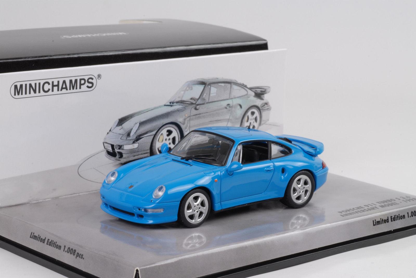 Minichamps Porsche  Turbo S 3.6 Azul aniversario edición limitada de  1008 un. Rara