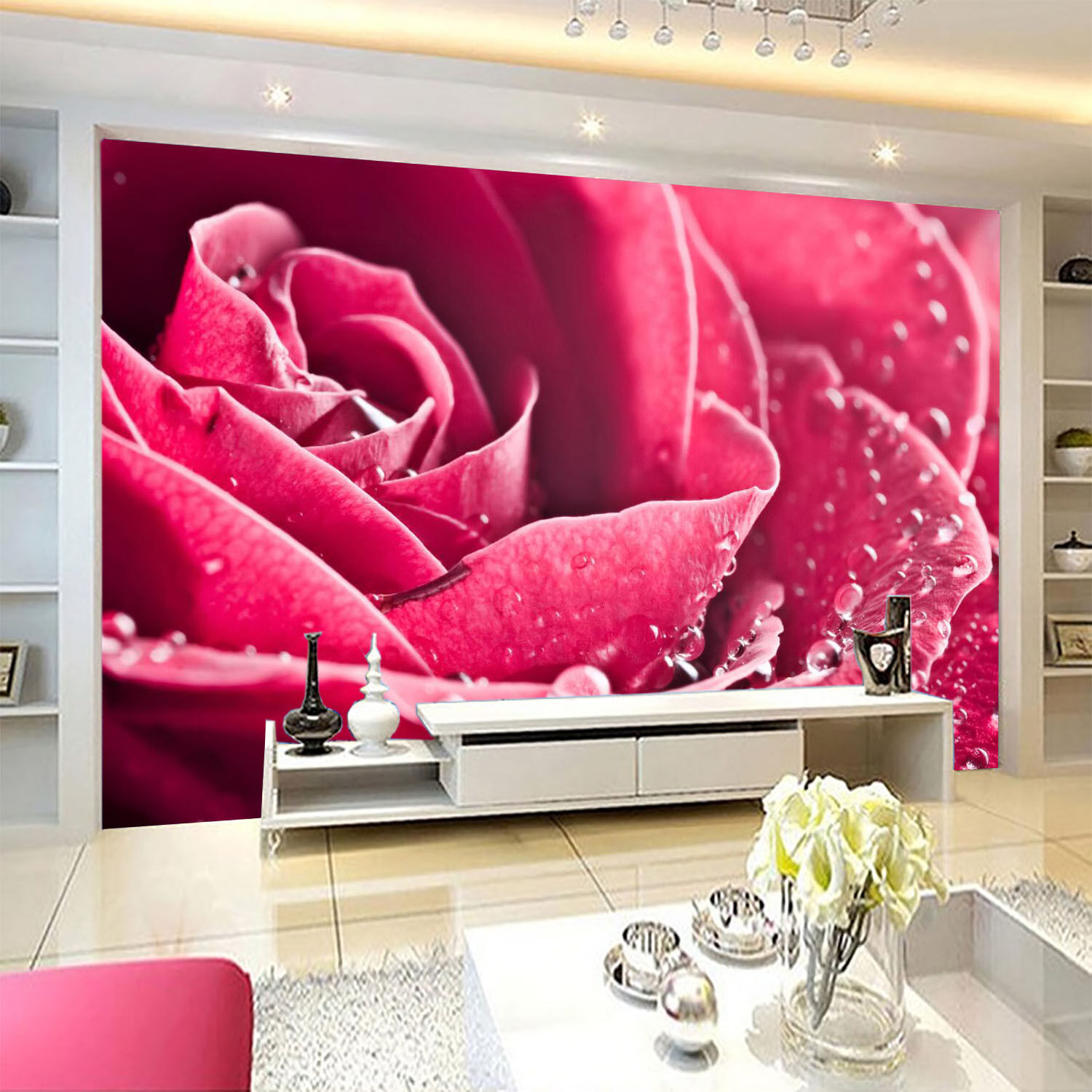 3D Flowers Dews 569 WallPaper Murals Wall Print Decal Wall Deco AJ WALLPAPER